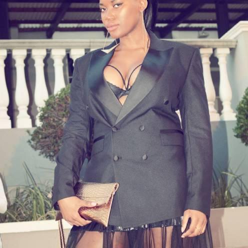 Mai Atafo blazer and Erre Fashion skirt
