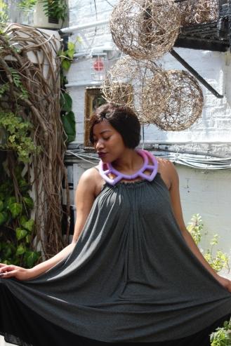 Dressed in Michelle Ludek dress, Afrigarde Neckpiece, Hair by Melanin Magic Hair and M.A.C Cosmetics